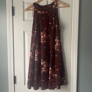 Altar'd State Maroon floral dress